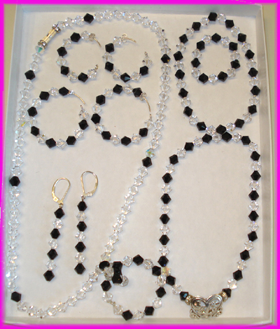 (1I) Black and Crystal Circle of Life Deluxe Set-