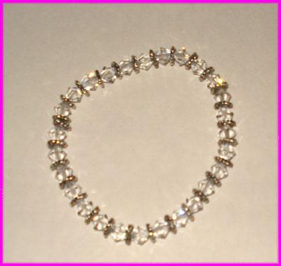 (A) Crystal Swirl Bracelet-