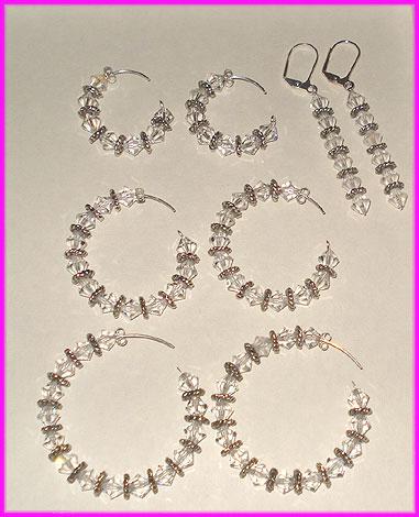 (A) Crystal Swirl Earrings-
