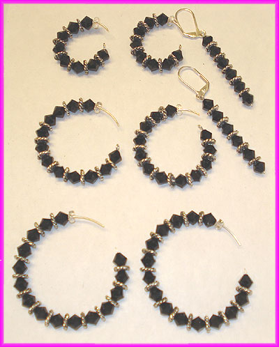 (B) Black Swirl Earrings-