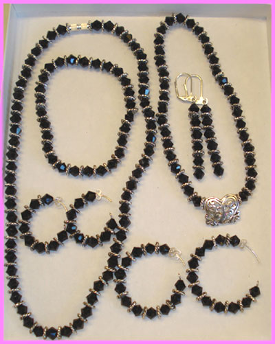 (B) Black Crystal Swirl Set-