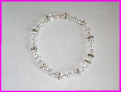 (C) Crystal 3 Bead Bracelet-