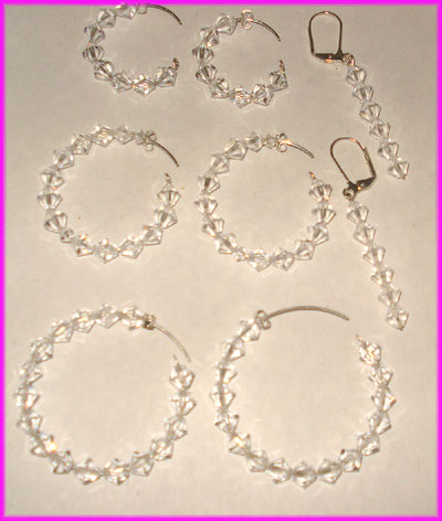 (E) Crystal Earrings-