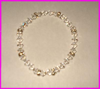 (G) Crystal Rondell Bracelet-